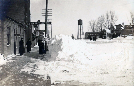 Winter scene, Slayton Minnesota, 1910;s