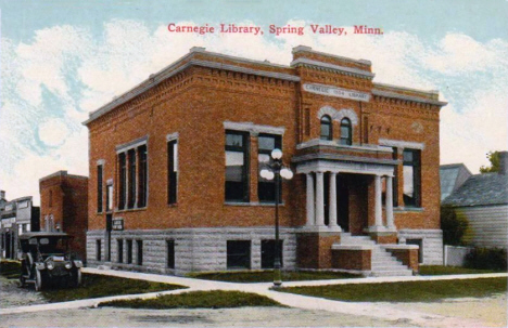 Carnegie Library, Spring Valley Minnesota, 1905