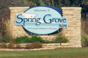 Spring Grove MN Welcome Sign