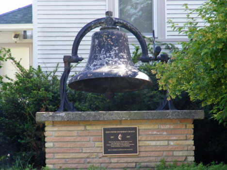 Bell from Zion United Methodist Church, St. Clair Minnesota, 2014