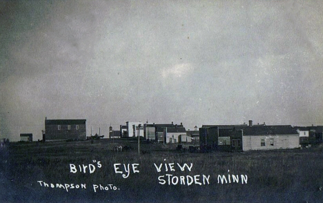 Birds eye view, Storden Minnesota, 1907