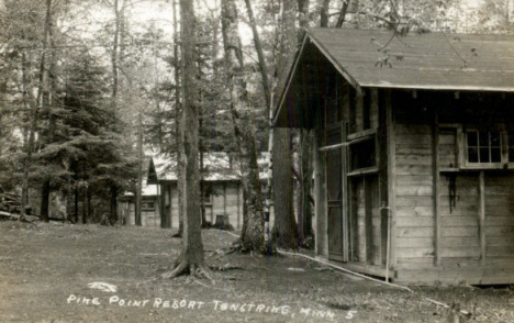 Pike Point Resort, Tenstrike Minnesota, 1930's