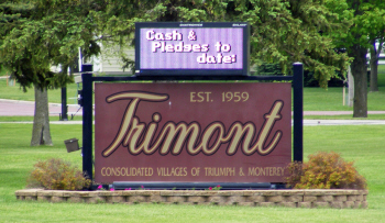 Welcome sign, Trimont Minnesota