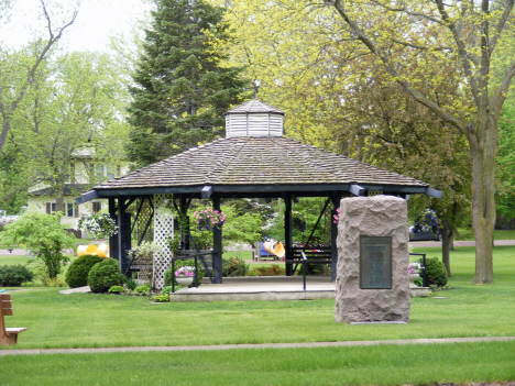 Gazebo in city park, Trimont Minnesota, 2014