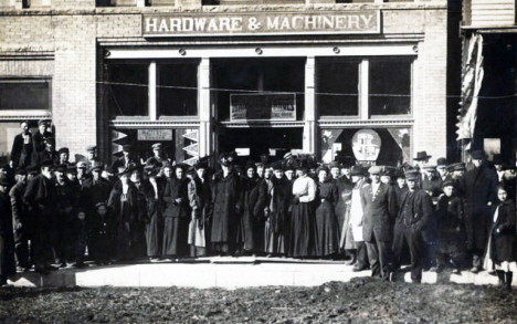Hardware & Machinery Store, Truman Minnesota, 1910