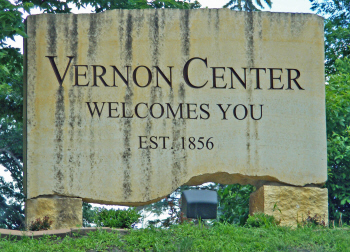 Welcome sign, Vernon Center Minnesota