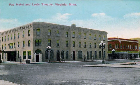 Fay Hotel and Lyric Theatre, Virginia Minnesota, 1913