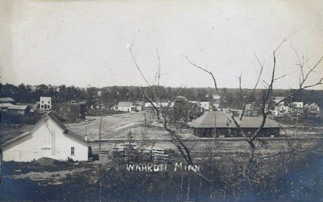 General view, Wahkon Minnesota, 1910's
