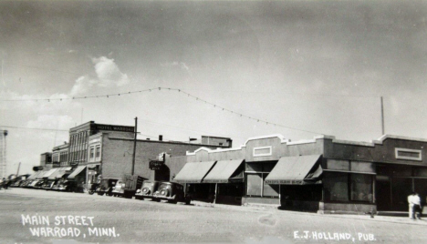 Main Street, Warroad Minnesota, 1940's