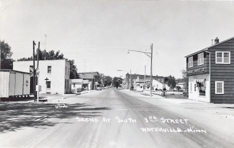 South 3rd Street, Waterville Minnesota, 1960's