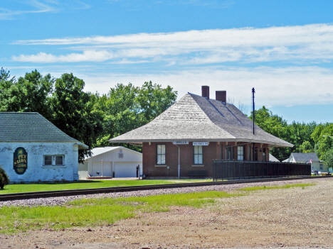 Former Train Depot, now Wells Museum, Wells Minnesota, 2014