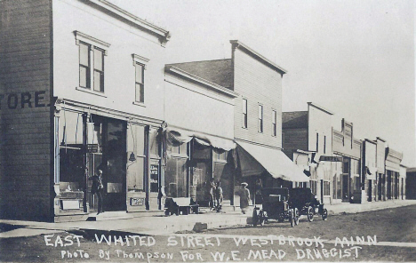 East Whited Street, Westbrook Minnesota, 1910's