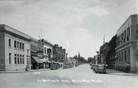Litchfield Avenue, Willmar Minnesota, 1940's