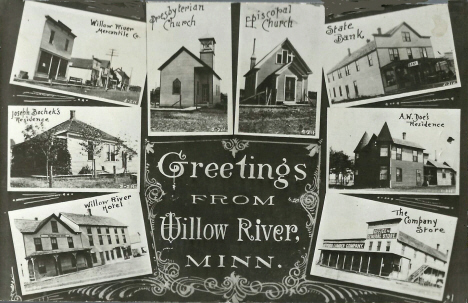 Multiple scenes, Willow River Minnesota, 1910's
