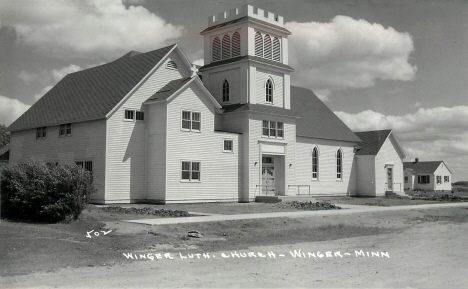 Winger Lutheran Church, Winger Minnesota, 1940's
