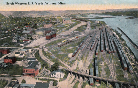 North Western Railroad Yards, Winona Minnesota, 1910's