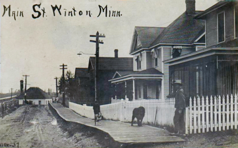 Main Street, Winton Minnesota, 1910's