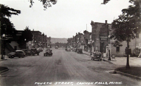 Fourth Street, Cannon Falls Minnesota, 1939