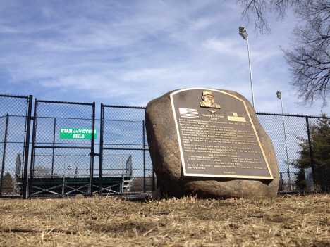 Northeast Athletic Field monument to Lefty Cyson, 17th and Pirce Street NE, Minneapolis Minnesota, 2012