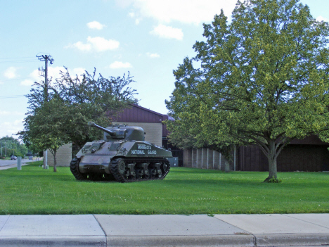 Army National Guard Tank protecting Appleton Minnesota, 2014
