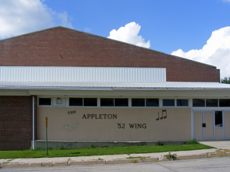 1952 wing to former High School, now pre-school, Appleton Minnesota, 2014