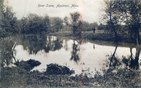 River scene, Appleton Minnesota, 1909