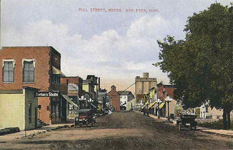 Mill Street North, Appleton Minnesota, 1910