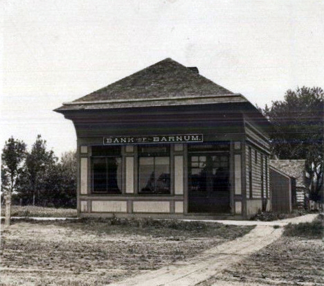 Bank of Barnum, Barnum Minnesota, 1910's