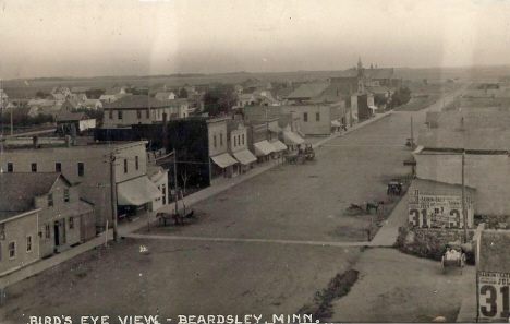 Birds eye view, Beardsley Minnesota, 1914
