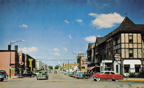 Street scene, Bemidji Minnesota, early 1960's