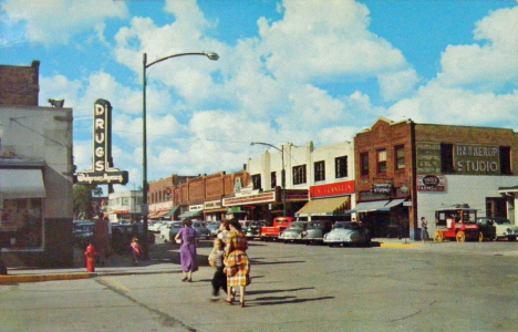 4th and Beltrami, Bemidji Minnesota, 1954