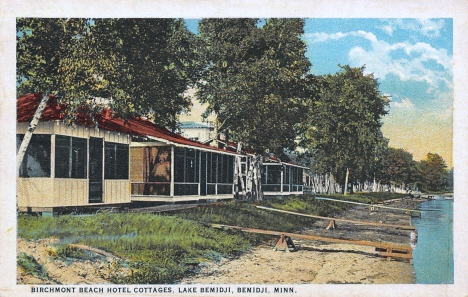 Birchmont Beach Hotel Cottages, Lake Bemidji, Bemidji Minnesota, 1925