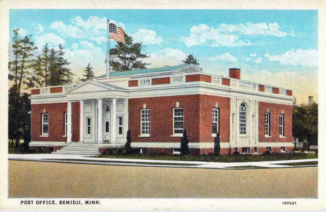 Post Office, Bemidji Minnesota, 1925