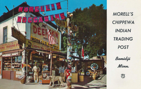Morell's Chippewa Indian Trading Post, Bemidji Minnesota, 1957