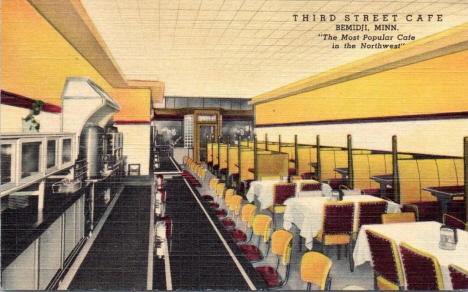 Third Street Cafe, Bemidji Minnesota, 1950
