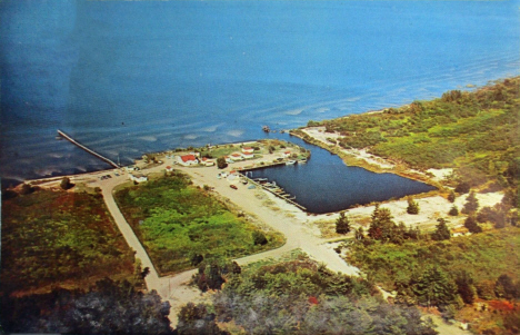 Aerial view of Lake Winnibigoshish at Bena Minnesota, 1965