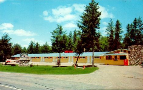 Big Winnie Motel and Steakhouse, Bena Minnesota, 1960's