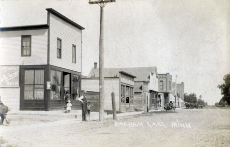 Main Street, Bingham Lake Minnesota, 1905