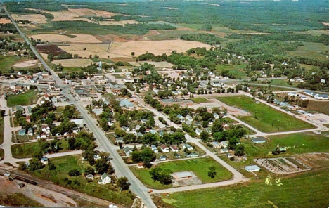 Aerial view, Blackduck Minnesota, 1962
