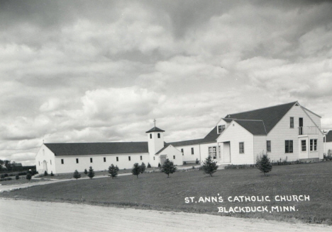 St. Ann's Catholic Church, Blackduck Minnesota, 1950's