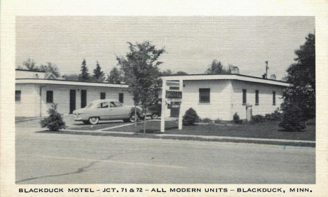 Blackduck Motel, Blackduck Minnesota, 1950's