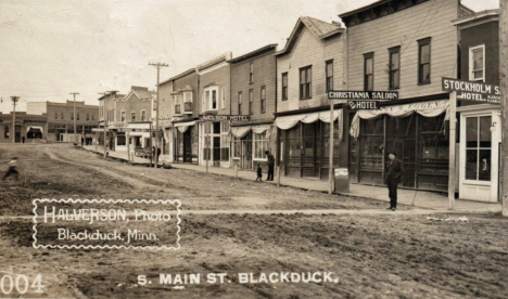 South Main Street, Blackduck Minnesota, 1909