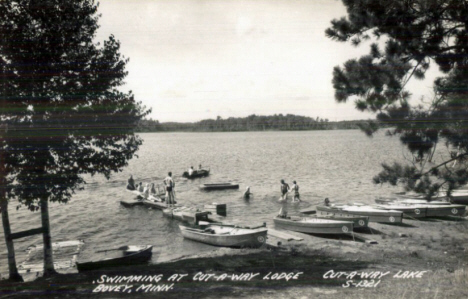 Cut-A-Way Lake, Bovey Minnesota, 1950's