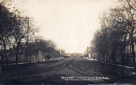 Main Street looking south, Boyd Minnesota, 1910