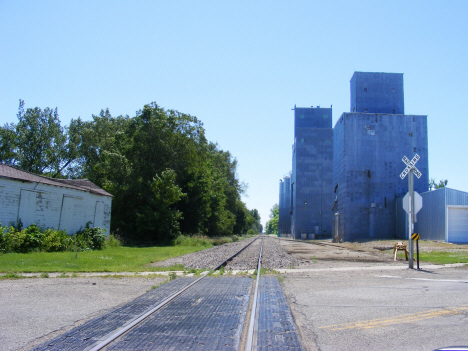 Railroad tracks and elevator, Boyd Minnesota, 2014