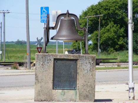 Original school bell, Boyd Minnesota, 2014