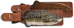 Fish molded wildlife cribbage board games for the wildlife enthusiast online sales