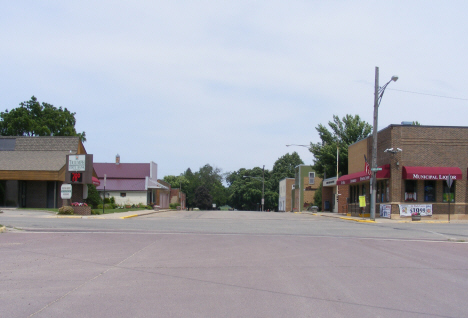 Street scene, Butterfield Minnesota, 2014