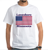 Lanesboro US Flag White T-Shirt