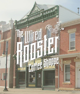 Wired Rooster Coffee Shop, Caledonia Minnesota